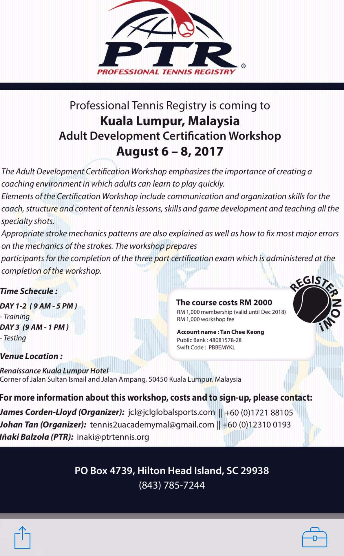 Ptr Adult Development Certification Workshop Malaysia Corden